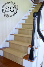 Stone Banister Stair Makeover Adding A Natural Looking Runner Stonegable