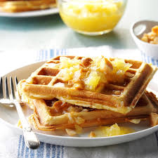 hawaiian waffles recipe taste of home
