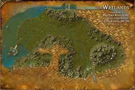 map quests wetlands map with locations npcs and quests of warcraft