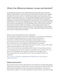 virus and bacteria compare and contrast essay