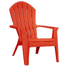 Adirondack Outdoor Furniture Shop Adams Mfg Corp 1 Count Red Resin Stackable Patio Adirondack