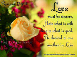 daily inspiration bible verses love sincere