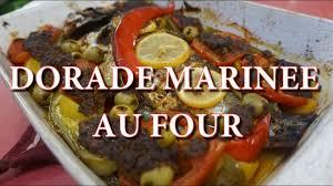 dorade cuisine dorade marinée au four