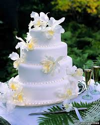 traditional wedding cakes white orchid cake
