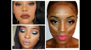 best makeup looks for black women dark skin contouring and