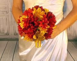 Wedding Flowers Fall Colors - fall wedding bouquet etsy