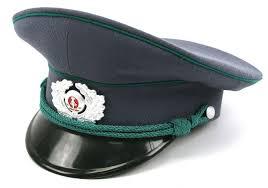 ddr east german customs enlisted visor cap