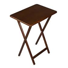 folding oversized wood tray table in espresso wooden tv tray table