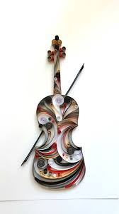 musical home decor violin paper art viola wall art violin home decor gift for