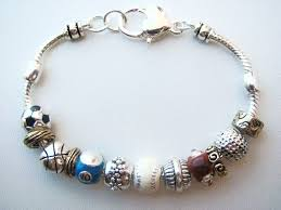 pandora beaded bracelet images Love sports bead bracelet soccer baseball football basketball golf JPG
