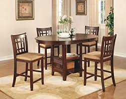 dining room table and chair sets amazon com coaster lavon 5 counter table and chair set in