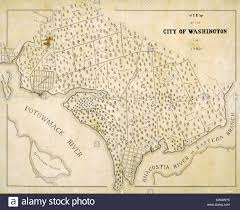 Maps Of Washington Dc by Washington D C Map Showing The Original Plantation Land That