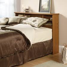 sauder corner bookcase furniture home orchard hills full queen bookcase headboard 401294