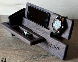 Personalized Desk Organizer Light Wood Organizer Personalized Station Gift For