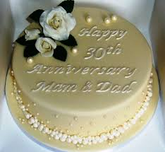 30 wedding anniversary 30th wedding anniversary cake decorations the great moment for