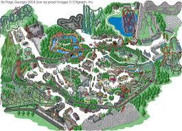 Where Is Six Flags America Six Flags Map Six Flags Magic Mountain Map U0026 Guide The Coaster
