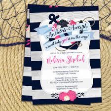 sailor baby shower nautical baby shower invitation girl anchor sailor baby shower