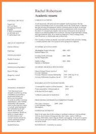 Academic Resume Template Word 8 Cv Template Word For A Student Bussines Proposal 2017