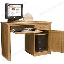 Compact Computer Desk Cavalli Solid Oak Compact Computer Desk Static Computer Desks