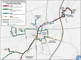 Saratoga Ny Map Cdta Finalizes Saratoga County Bus Route Changes Times Union