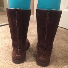 womens ugg boots zipper back ugg ugg chocolate with zipper in back from s