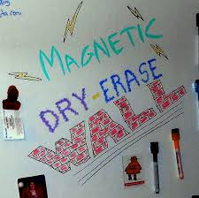 magnetic dry erase wall with pictures