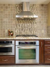 kitchen design ideas glass texture tile wall orange blue tiling