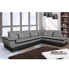 canapé d angle noir et gris canapé d angle droit en tissu gris et pvc noir viper dya shopping fr