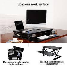office desk with adjustable keyboard tray flexispot stand up desk 35 height adjustable standing desk riser