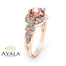 pink morganite 14k gold morganite engagement ring pink morganite ring