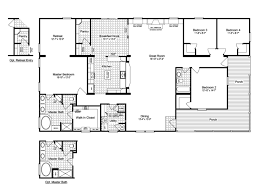 porch building plans view the evolution triplewide home floor plan for a 3116 sq ft