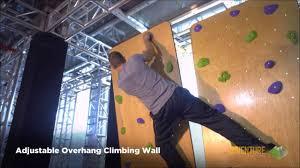 adjustable overhang climbing wall youtube