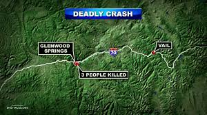 I 70 Colorado Map by 3 Killed On I 70 In Crash In Glenwood Canyon Cbs Denver
