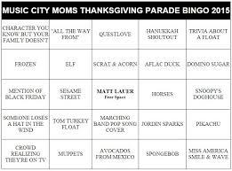 thanksgiving parade bingo city