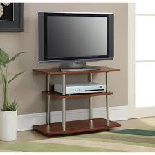 home theater stand amazon com calvin tv stand three tiers beautiful wood grain