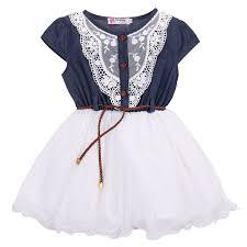 aliexpress com buy clothing summer denim dress for girls