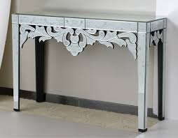 mirrored console table for sale venetion style with etching glass console table buy antique