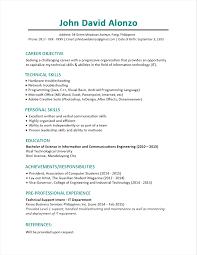 resume chronological format browse chronological resume sle fresh graduate sle resume