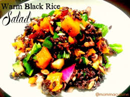 elegant halloween warm black rice salad recipes