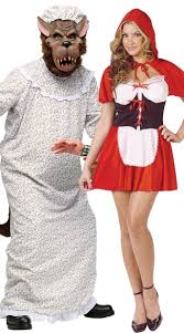 little red and wolf couples costume red riding hood