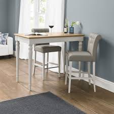 Oak Bar Table Buy Bentley Designs Hstead Soft Grey And Oak Bar Table With 2