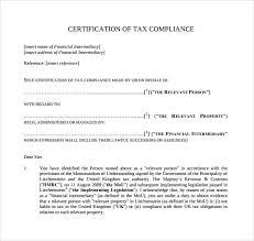 Certification Letter Of Endorsement Sample Sample Certificate Of Compliance 12 Documents In Pdf
