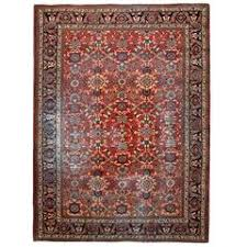 Green Persian Rug Green Persian Sultanabad Mahal Rug For Sale At 1stdibs