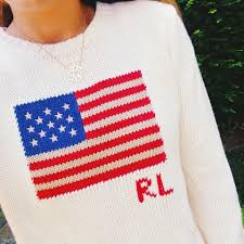 Flag Sweater Summer Wind Classic American Flag Sweater