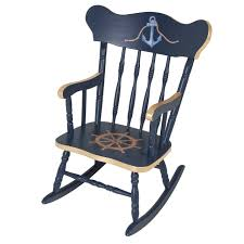 Unfinished Child S Rocking Chair Navy Blue Windsor Rocking Chair For Children Of Likable Childrens