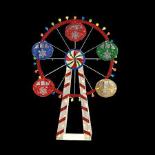 home depot lawn decorations home accents holiday 72 in led lighted mesh string ferris wheel