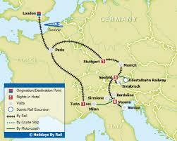 Eurostar Route Map by Garda Venice U0026 The Austrian Alps