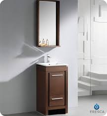 Modern Vanities For Small Bathrooms Fresca 16 Allier Small Modern Bathroom Vanity Wenge Finish