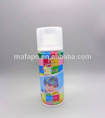 white colored hair spray costume temporary color wash