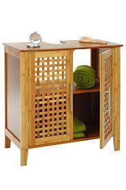 badezimmer bambus badezimmer möbelstück aus bambus für unters waschbecken 2 türen